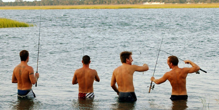 Мальчишник на рыбалке