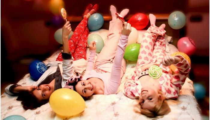 Фото: Девичник в стиле пижамной вечеринки