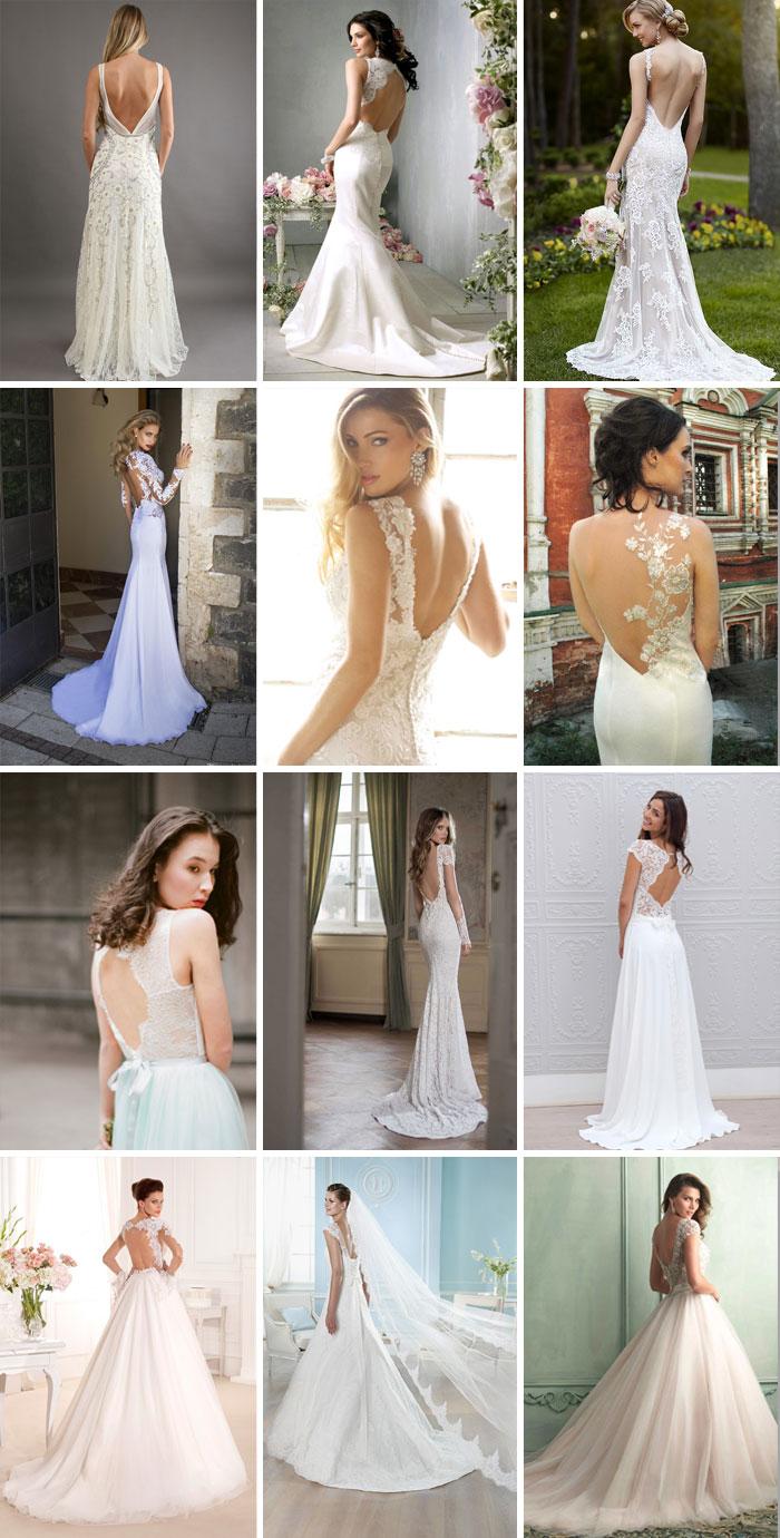 Свадебные платья с обнаженной спиной 2017