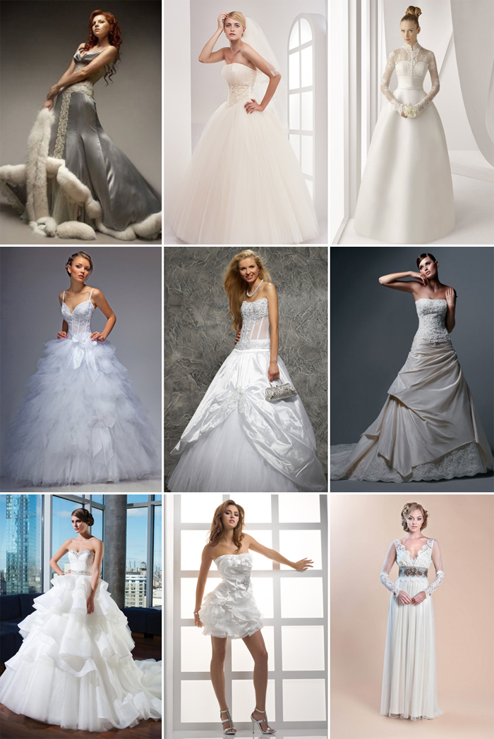 Красивые наряды невест