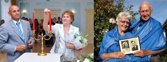 Годовщина свадьбы: наряды супругов в синих тонах