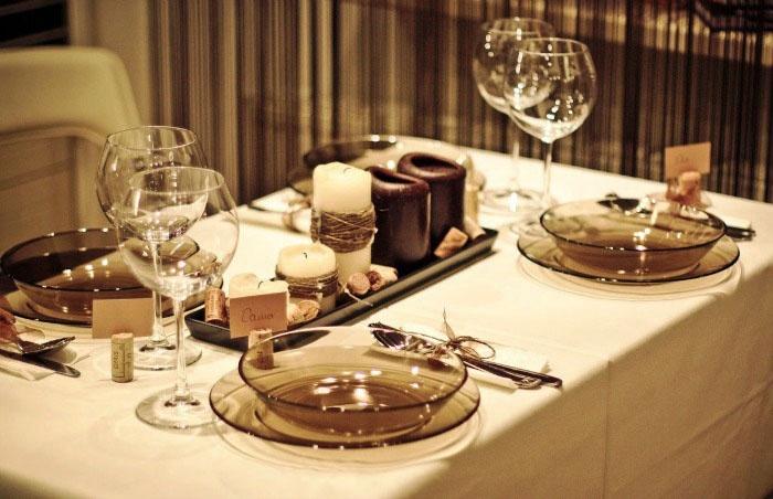Оформление стола к льняной свадьбе