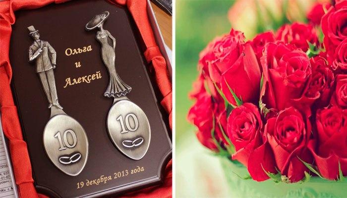 Олово и роза, как символы годовщины