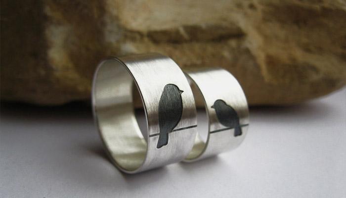 Оловянные кольца на десятилетний юбилей