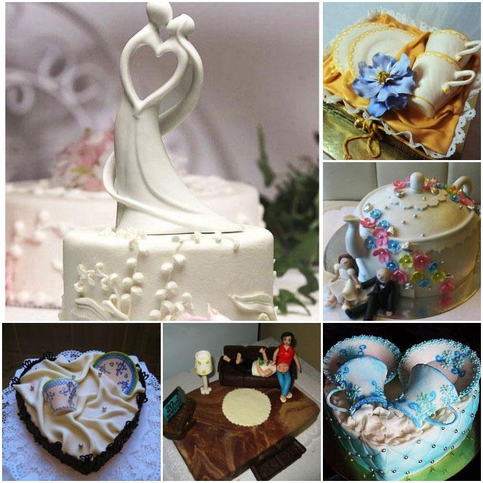Торт на 20 лет свадьбы