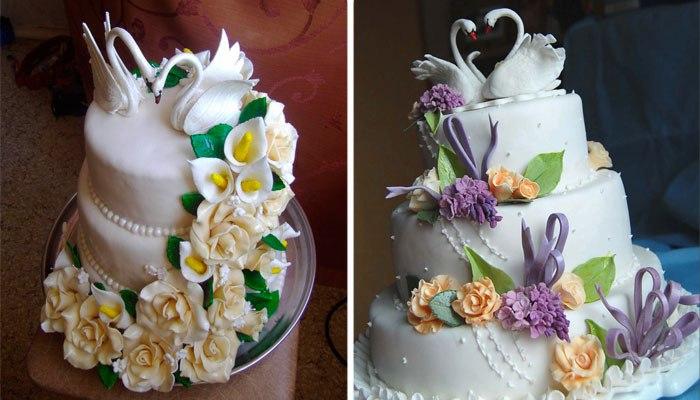 Праздничный торт на коронную свадьбу
