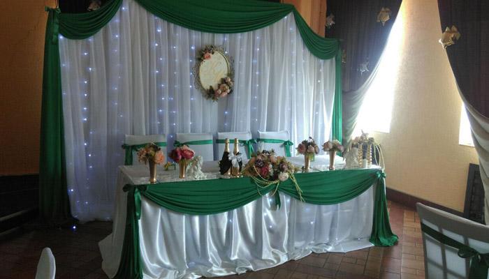 Украшение праздничного стола к 55 юбилею свадьбы