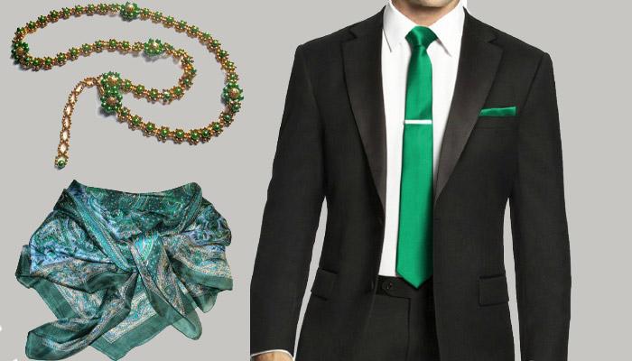 Детали одежды на изумрудную годовщину