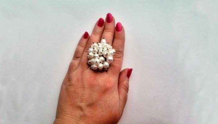 Кольцо с жемчугом к 30 юбилею свадьбы