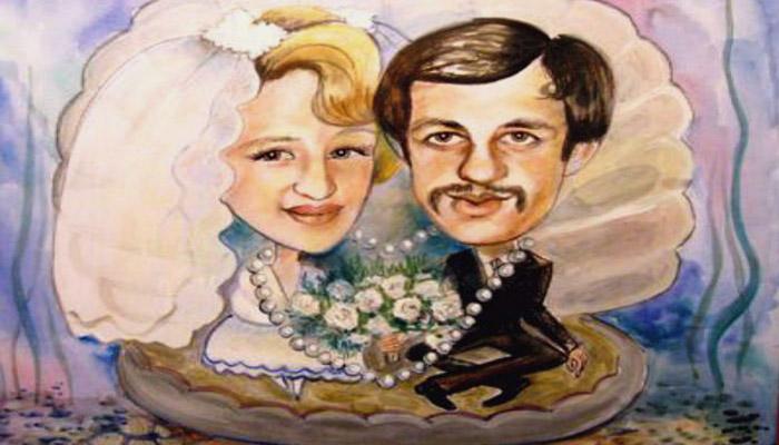 Конкурс на смешной портрет молодых на жемчужной свадьбе