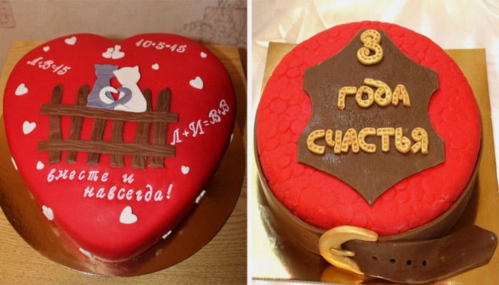 Идеи оформления тортов на три года со дня свадьбы