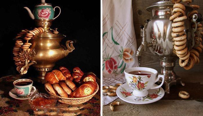 Традиционное чаепитие с самоваром