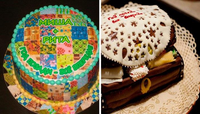 Оформление тортов для ситцевой свадьбы