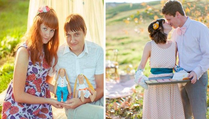 Интересные идеи для фотосессии на 1 юбилей свадьбы