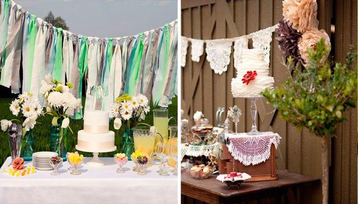 Элементы декора для праздничного пикника
