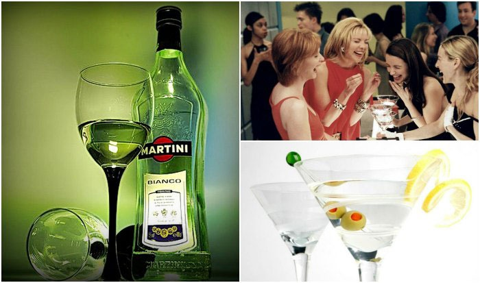 Мартини – напиток девичника в стиле «Тиффани»