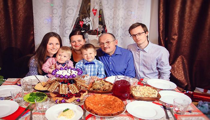 Праздник в кругу родных