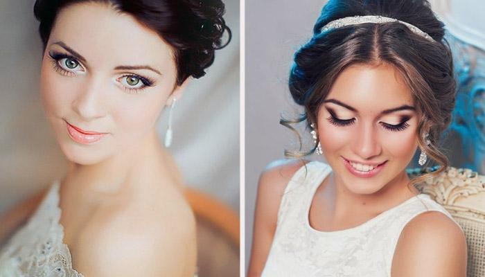 Свадебный макияж для зеленоглазых брюнеток
