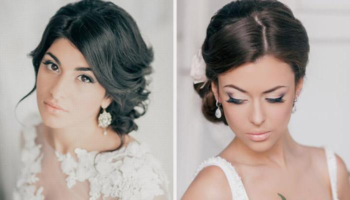Свадебный макияж для смуглых брюнеток