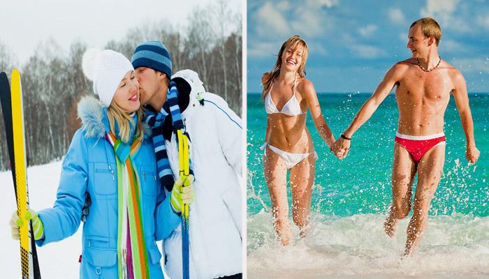 Отдых в зимнее и летнее время года