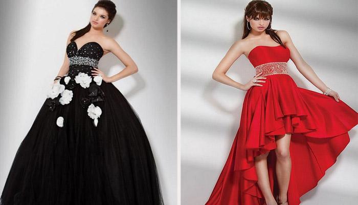 Платья различных цветов