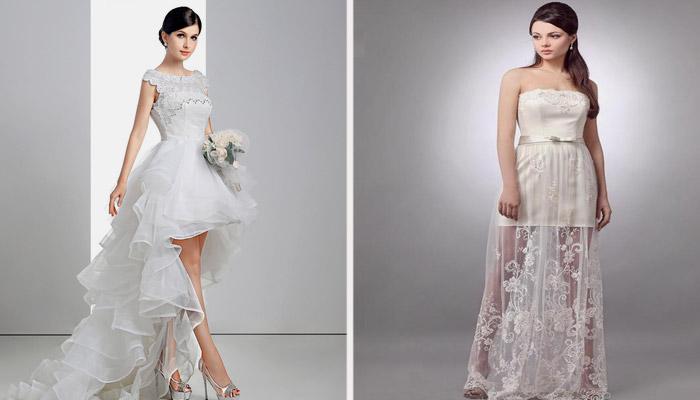 Необычайная по форме одежда на свадьбу