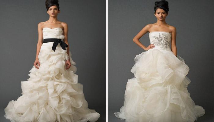Дизайнерская одежда для свадьбы от Vera Wang