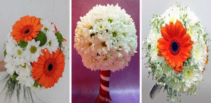 Свадебная флористика с хризантемами