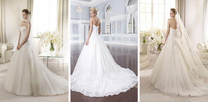 Пышные свадебные платья с эффектным шлейфом