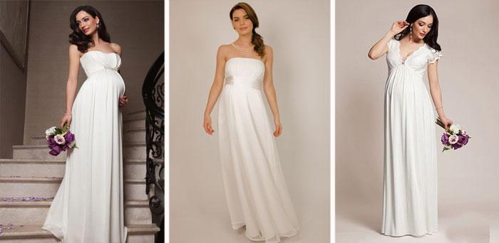 Свадебные платья для женщин в положении