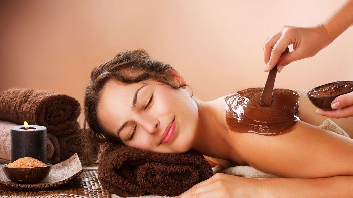 Шоколадное обертывание в СПА на девичнике