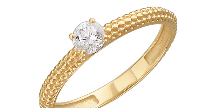 Помолвочное кольцо Эстет 01K139311