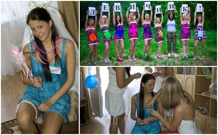 Подготовка к девичнику: невеста и ее подружки