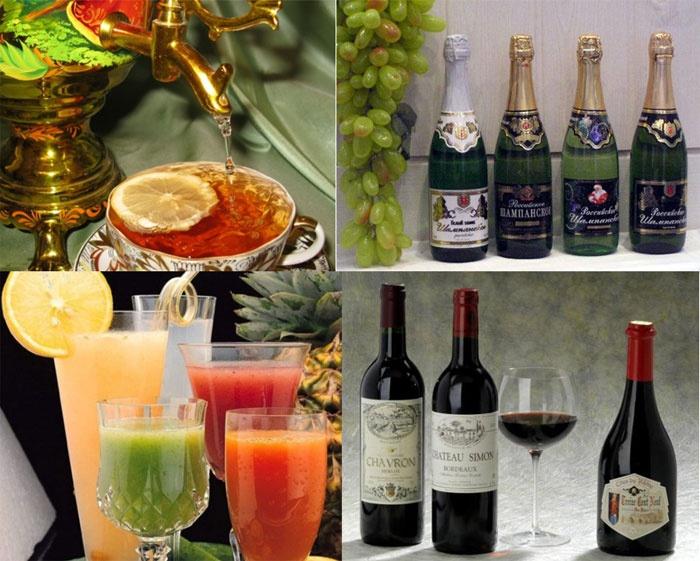 Праздничные напитки для ситцевой свадьбы