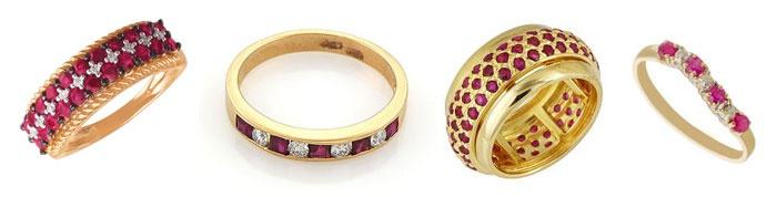 Обручальные кольца с рубином