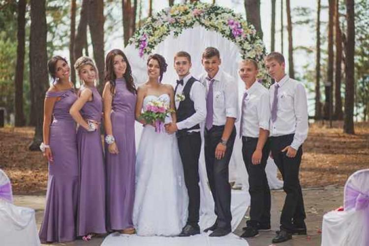 сиреневая свадьба