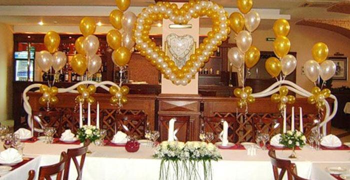 Украшение стола на празднование 50-летия свадьбы