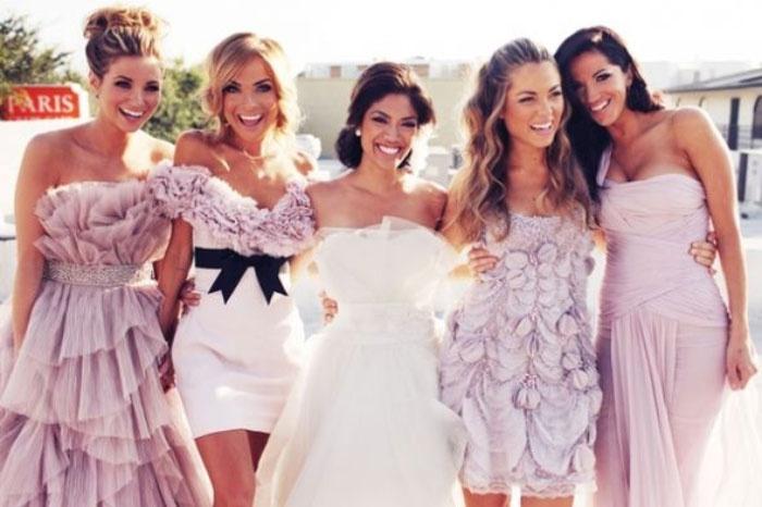 Платья подруг невесты разной длины