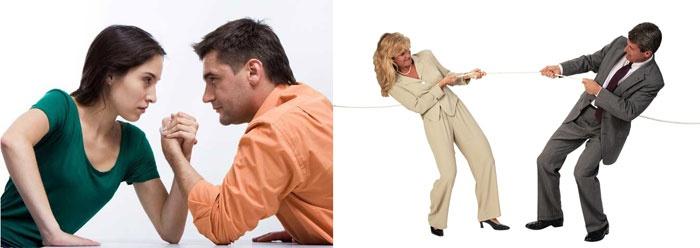 Борьба в семейных отношениях