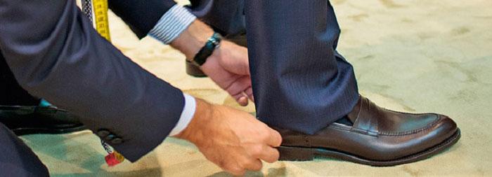 Подбор длины брюк в костюме тройке