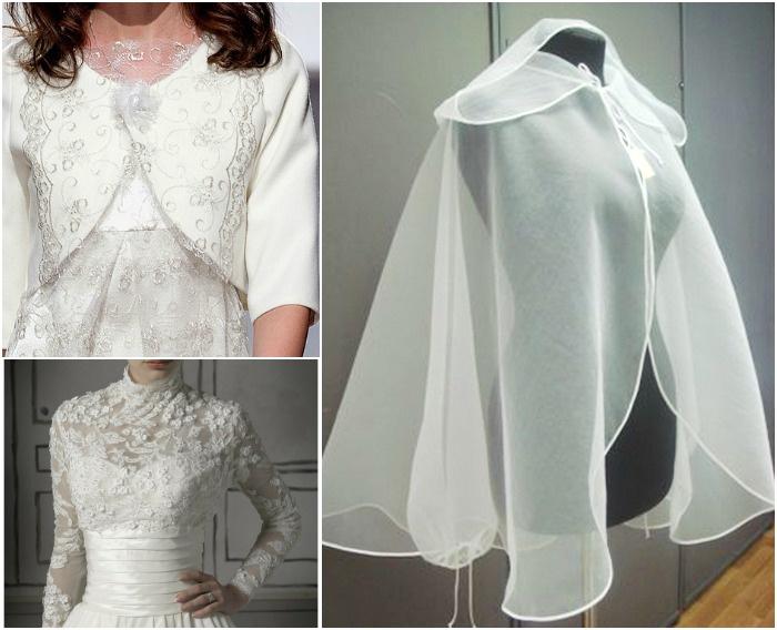 Аксессуары, призванные скрыть плечи невесты