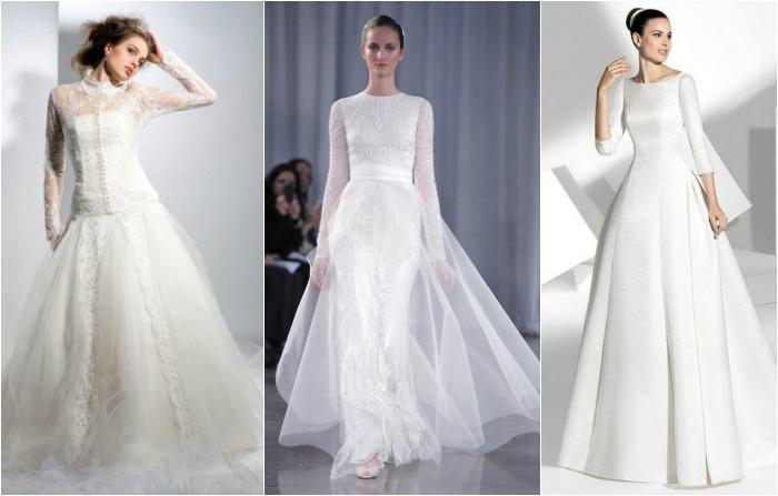 Закрытые платья для венчания