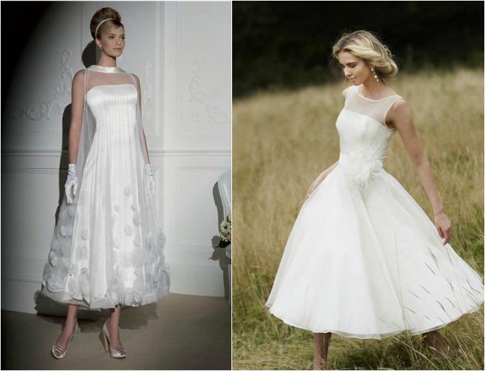 Укороченные модели платьев