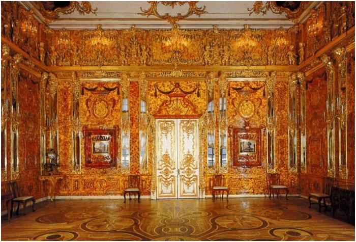 Великолепной красоты место – янтарная комната