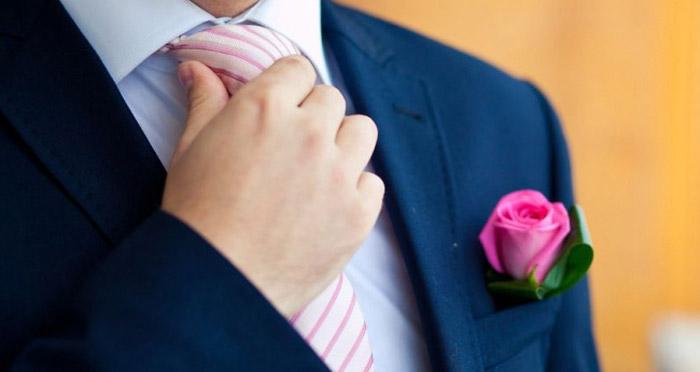 Цветовая гамма галстука на свадьбу