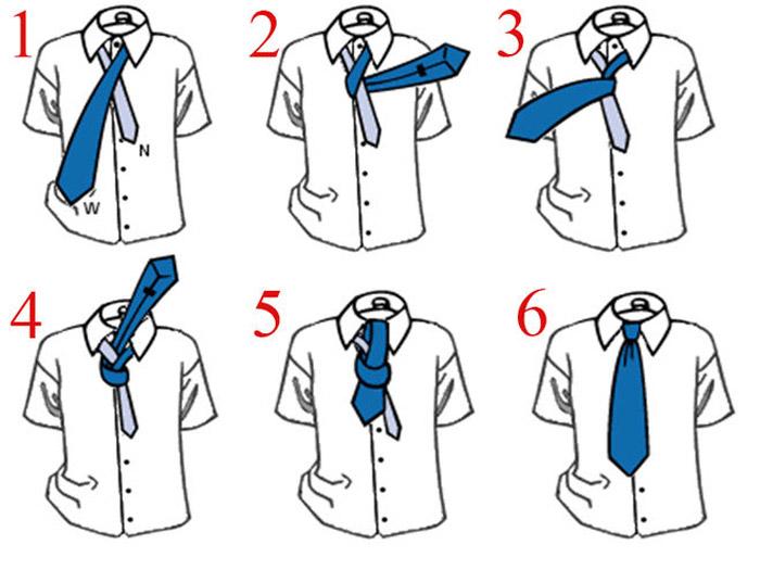 Как завязать галстук на простой узел