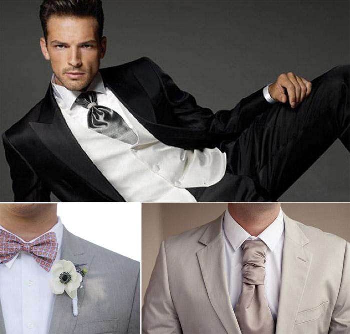 Фото модных галстуков на свадьбу