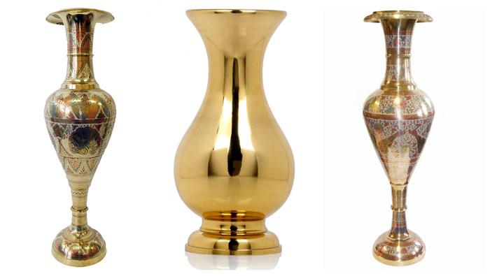 Большая латунная ваза