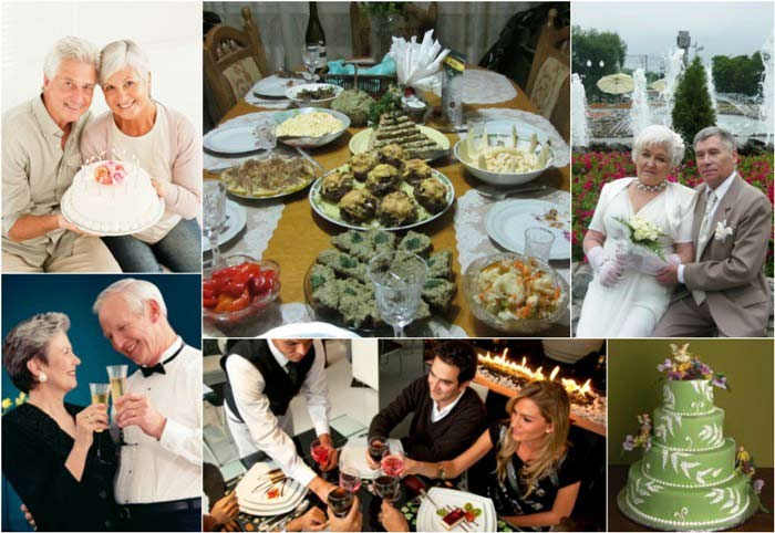 Празднование нефритовой годовщины свадьбы