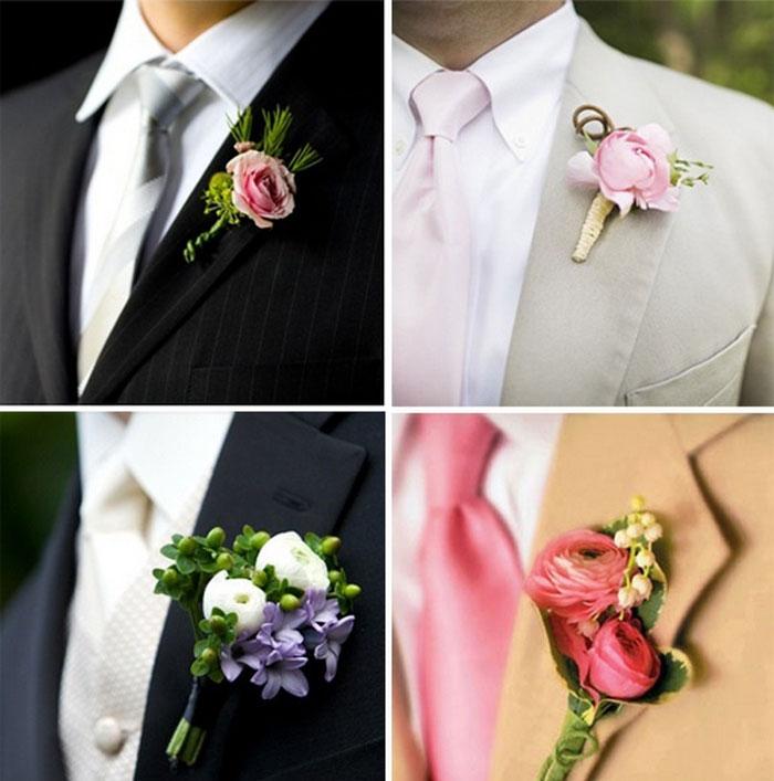 Бутоньерки для костюма жениха